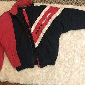 Mens Vintage FORD RACING Bomber Windbreaker Jacket